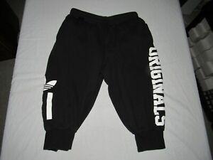"Adidas Women's Black Originals Athletic Capri Sweatpants Size M Waist 28""-30"""