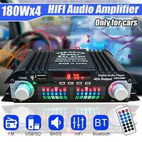 Car Mini Amplifier bluetooth Audio Power Amplifier Small Power Amplifier 12V