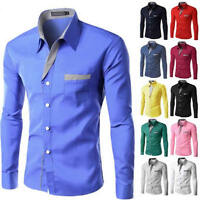Fashion Men's Slim Fit Shirt Long Sleeve Dress Shirts Casual Shirts Tops Clothes