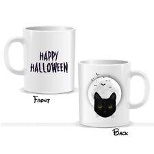 Happy Halloween Mug Cat Face Moon Scary Printing Kids Gift Present (MUGPN00066)