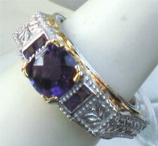 MICHAEL VALITUTTI GEMS EN VOGUE NH STERLING AMETHYST RING IN A LUCKY SIZE  8