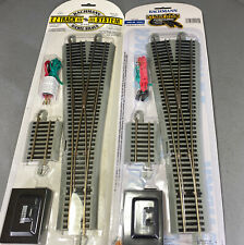 Bachmann HO EZ-Track Nickel Silver #5 Wye Switch W Remote LOT x2(S9-1006)