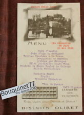 BISCUITS OLIBET / Ancien Menu de 1932