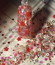 glitter mix acrylic gel nail art   SHIRLEY TEMPLE