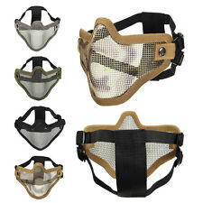 Tactical Security Protect Hunting Metal Wire Half Face Mask Mesh Airsoft Mask Pa