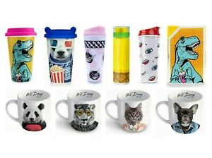 Funny Animal Mugs - Mug, Travel Mug, Water Bottle Infuser Tea Coffee Cup Mustard