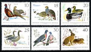 Germany DDR/GDR 998-1003, MNH. Birds.Pheasants,Partridges,Mallards,Geese,1968