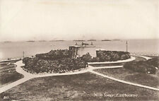 More details for wish tower eastbourne sussex postcard royal navy fleet in background.1900s.