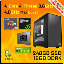 AMD Ryzen 3 3200G 4-Core Max 4.0GHz GTX1660 240GB 16G Gaming Computer Desktop PC