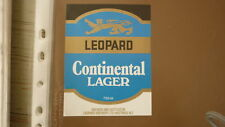 OLD NZ NEW ZEALAND BEER LABEL, LEOPARD BREWERY HASTINGS, CONTINENTAL LAGER 2