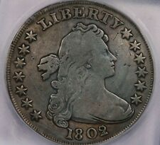 1802/1-P 1802/1 Draped Bust Dollar ICG F15 Details Wide Date, Repaired, Cleaned