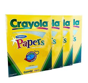Crayola 4-Pack Stardust Pattern Papers Heavyweight Injet Printable 8.5x11