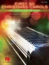 FIRST 50 CHRISTMAS CAROLS YOU SHOULD PLAY ON PIANO EASY SHEET MUSIC SONG BOOK