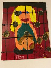 "Expressionismus POP Art Kunst Gemälde: ""Isabelle"" Artist: FISH"