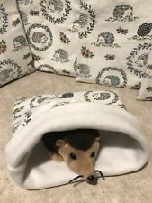 White hedgehogs cotton- snuggle sack- small Bonding Bag  -guinea Pig