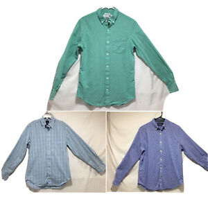 Lot Of 3 Shirts Old Navy Náutica Tailorbird Long Sleeve button Up Collared Small