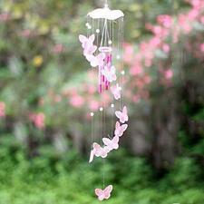 Carillón de Viento Jardín Decoración De Casa Colgante Windchime tubos carillones móvil rosa al aire libre