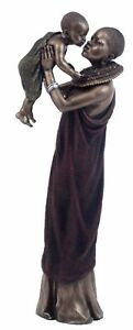 Veronese Bronze Figurine African Collection MATHEE - Mother's Love