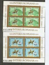 Romania SC # 2767-2768 Cultural and economic European Colaboration 1978 . MNH
