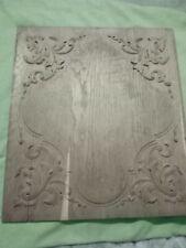 Panneau bois sculpté feuille d acanthe chêne