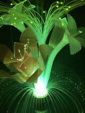 Vintage  color changing Fiber Optic Flower Rotating Lamp