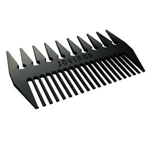 Jovinno Hair & Beard Styling Comb Premium Quality Black Metal Dual-Sided