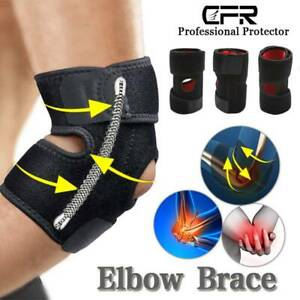 Elbow Support Adjustable Tennis Brace Padded Compression For Arthritis Pain AU