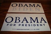 2 different 2008 Collectable * OBAMA For President / OBAMA BIDEN Bumper Stickers