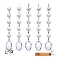 5 Hanging Chandelier Crystal Suncatcher Glass Prisms Rainbow Drops Pendants 38mm