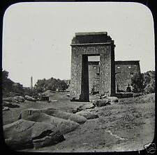 Glass Magic Lantern Slide APPROACH TO KARNAK C1900 EGYPT EGYPTIANS