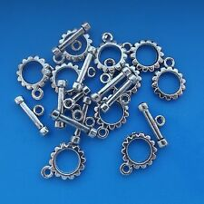 10 x Antique Silver Plated Toggle Clasps 12.5mm x 15mm