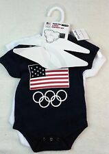 New 2 Pack 6-9 Months Team USA Olympics America Bodysuit One Piece Onezy
