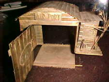 Vintage Hand Made Copper/Brass Music Box Airplane Circling Into Hangar 1940S