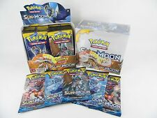 5x Pokemon  BOOSTER PACKS Sun & Moon - 50 cards tcg OFFICIAL NEW / SEALED - !