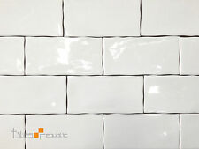 Mano Gloss White Handmade-Look 75x150 Subway Wall Tile