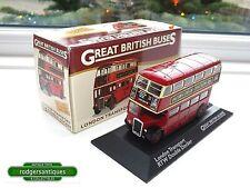 Atlas Editions London Transport RTW DOUBLE DECKER BUS Mint Model and Box 1:76