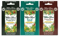 Walden Farms Creamy Bacon / Ranch / Thousand Island Dressing Packets - 3 Boxes