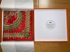 Rare Hermes Parures Des Mahajaras 100% Red Silk Scarf 90cm Brand New w/ Box