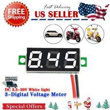 """Digital LED Car Voltmeter 0.28"""" DC 3.5-30V Super Mini Voltage Panel Meter Batter"""