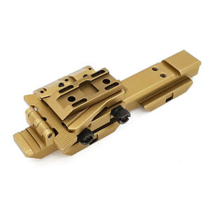 "QD Flip-To-Side Magnifier Flip Mounts for EOTech G23 G33 w/ 5/8"" Riser Picatinny"