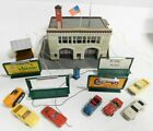 Life Like HO Scale BFD Fire Station, Billboards, 7 Vehicles Lot