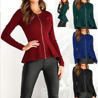 Maglia Autunno Manica Lunga Donna Asimmetrica Woman Long Sleeve T-Shirt 561057 P