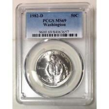 1982 D Washington Half Dollar PCGS MS69 *Rev Tye's* #365760