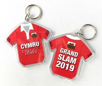 Wales Rugby Six Nations Grand Slam 2019 Keyrings and Drinks Coaster Gifts