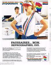 PUBLICITE ADVERTISING 095  1985  RAPIDOCOLOR   photocopieur industriel