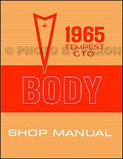 1965 Pontiac LeMans Tempest and GTO Body Shop Manual Repair Service Book