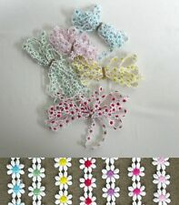 Guipure Daisy Trims - 7 Assorted colours