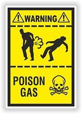 Poison Gas Fart Sticker Funny Warning Farting Gases Truck Toilet Door Bedroom