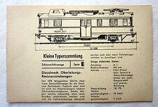 DDR Kleine Typensammlung Schienenfahrzeuge - Dieselmech. Oberleitungs-Triebwagen