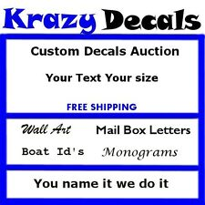 Custom Vinyl Decal Lettering Letters Business Text Made 2 order READ DESCRIPTION